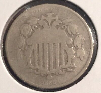 1866 Shield nickel with rays  #6003