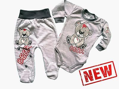 """Baby Boys """"Smiling Little Bear"""" 2 Piece *Set Outfit SOFT 100% Cotton! 6-9 Months"""