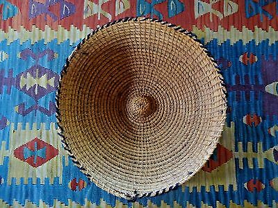 Antique SOUTH AFRICAN GRAIN BASKET from LESOTHO & BASUTO TRIBE / Early 1900's