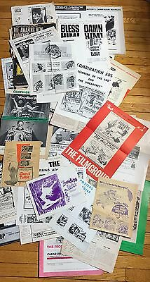 Giant Movie Publicity Lot Of 40 Horror Sci-Fi Action Pressbooks Ad Mats Lot