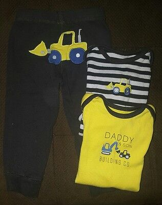 carters 18m truck outfit 3 piece set toddler baby boy
