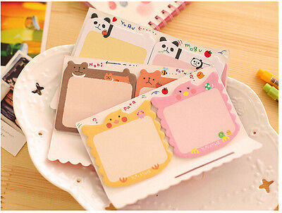 Cute Animals Sticker Bookmark Point It Marker Memo Flags Sticky Notes RC