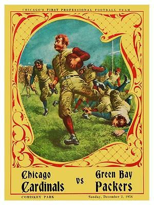 Chicago Cardinals vs Green Bay Packers **LARGE POSTER** 1956 NFL Football