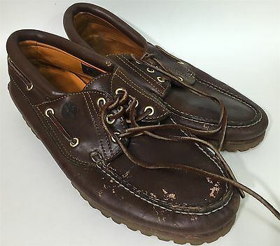 Mens TIMBERLAND Brown Leather Casual Lace Up Oxford Shoes Size 11M