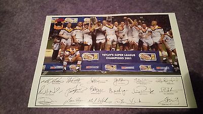 Signed Bradford Bulls Champions 2001 Picture