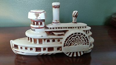 "Vintage ERZA BROOKS 1969 ""Delta Belle"" Steamboat Liquor Decanter-Empty"