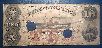 $10 1856 Bank of Commerce State of Georgia Obsolete Note