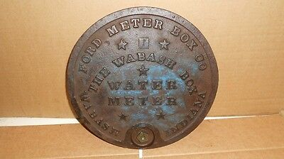Vintage Ford Meter Box Company Wabash, Indiana Manhole Cover Cast Iron sign