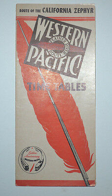Western Pacific Railroad  public Timetable  dated 4/26/53