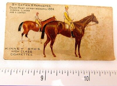 1884 St. Gatien & Harvester Derby Winners Kinney Bros High Class Cigarettes F47