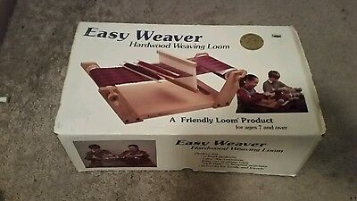 EASY WEAVER Wooden Tabletop Loom Learn to Weave Home School Great Condition