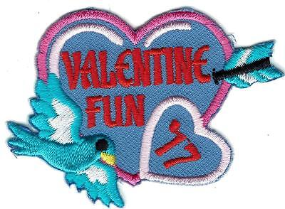 Girl Boy Cub VALENTINE DAY 2017 Fun Patches Crests Badges SCOUTS GUIDE party