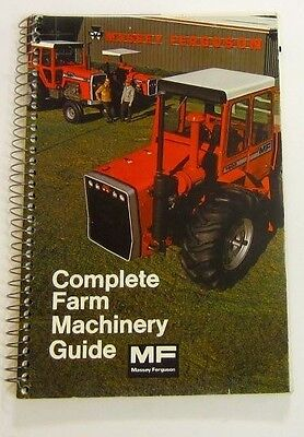 Spiral Bound Massey Ferguson Full Line Catalog Buyers Guide Brochure 210 Pages