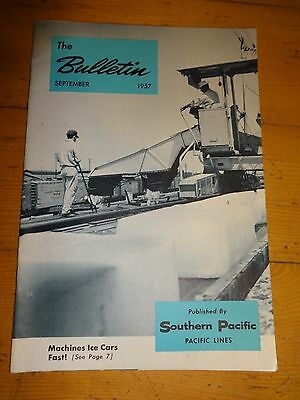 Southern Pacific Bulletin Employee Magazine 9/1957 Railroad Collectible