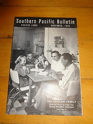 Southern Pacific Bulletin Employee Magazine 11/1953 Railroad Collectible