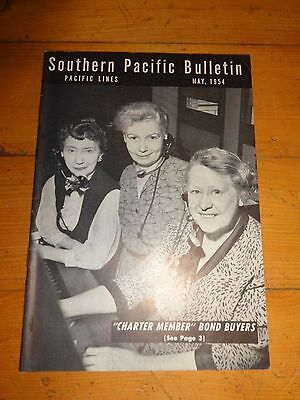 Southern Pacific Bulletin Employee Magazine 5/1954 Railroad Collectible