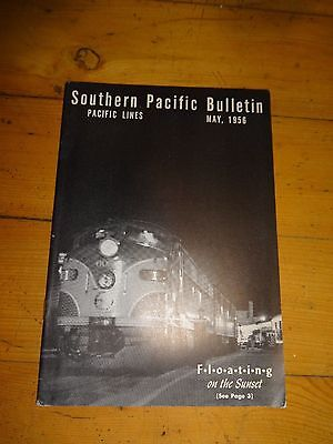 Southern Pacific Bulletin Employee Magazine 5/1956 Railroad Collectible