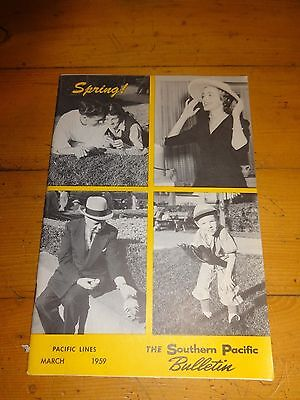Southern Pacific Bulletin Employee Magazine 3/1959 Railroad Collectible
