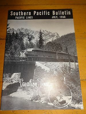 Southern Pacific Bulletin Employee Magazine 7/1956 Railroad Collectible