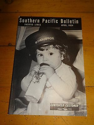 Southern Pacific Bulletin Employee Magazine 4/1954 Railroad Collectible
