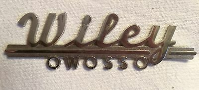Wiley Auto Dealership Owosso Michigan Metal Emblem Plate For Car. Buick