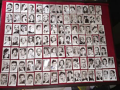 1936 Facchino Cinema Stars All 100 Cards Mint Excellent Movie Trading Cards