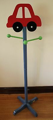 Boys Freestanding Coat Stand - Car