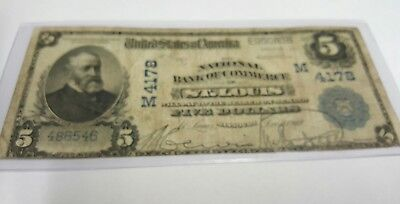 St louis national Currency  $5. Series  1902