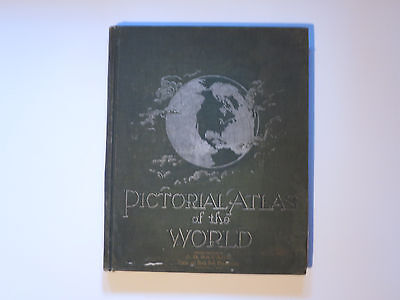 Antique Pictorial Atlas Of The World 1896 Rand, McNally & Co. Color Maps