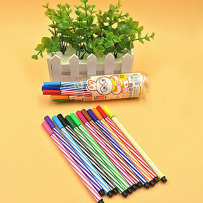 12Pcs Color Watercolor Pen Gel Pens Set With Drifting Bottle School Stationery