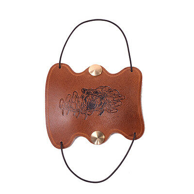 Archery Handmade Brown Cow Leather Arm Protector Arm Guard for Shooting