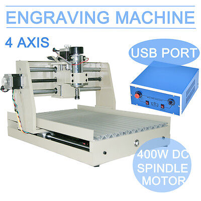 4AXIS 3040 CNC Router Engraver Engraving Drilling Milling Machine USB port 2017