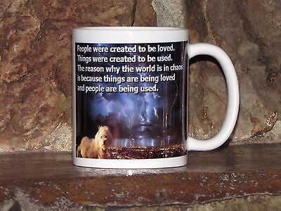 Great Pet Lover's Gift  Maltese Dog Mug Coffee / Tea Cup with a nice quote!