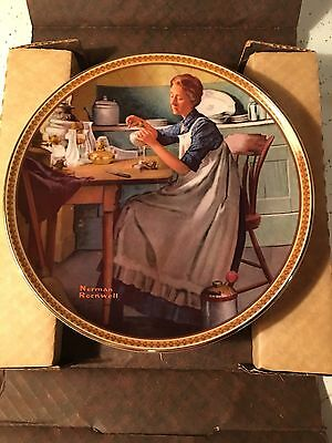 "Edwin M Knowles Rockwell's Rediscovered Women ""Working In The Kitchen"" # 5055L"