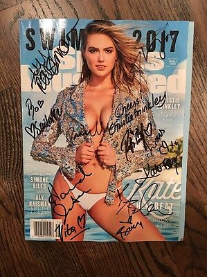SPORTS ILLUSTRATED SWIMSUIT 2017 MAGAZINE SIGNED AUTOGRAPHED Brinkley Jeter Kate
