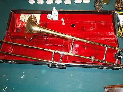 Vintage Reynolds Slide Trombone w Case Untested