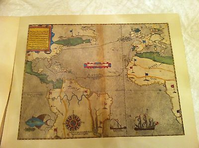 Sir Francis Drake Historic Map (1585) 24x20