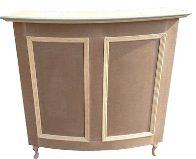 Small Curved Reption Desk, Salon, Retail - French Style Shabby Chic - unpainted