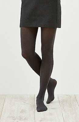 Nwt - Women's Opaque Heathered Tights, M/l   Color: Dark Charcoal Heather
