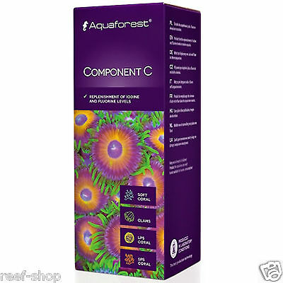 Aquaforest Component C - 150ml Iodine & Fluorine FREE USA SHIPPING!