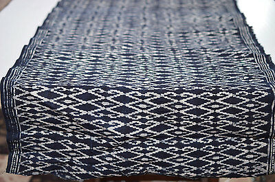 2Yd Hmong Textiles Embroidered Batik Fabric Cotton Handmade Table Runner #52