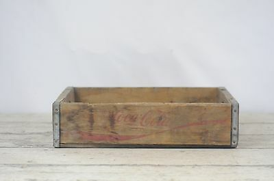 Vintage Coca Cola Beverage Wood Crate Coke Soda Pop Wood Box Crate