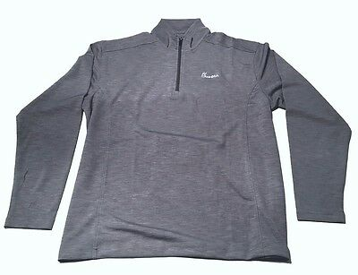 Chick Fil-A Men's Gray 1/4 Zip Pullover Hydrovent Jacket Brand New Size Large