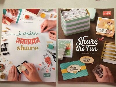 Stampin' Up! Retired IDEA BOOK & CATALOG 2014-2015 2015-2016 New Condition Stamp