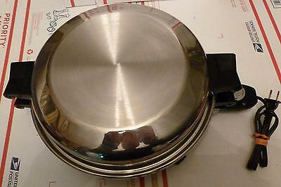 "New Era*Vollrath*11""*Liquid Core*Electric Skillet*FryPan*High Dome Lid*Light Use"