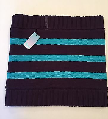 Ivivva by Lululemon Snow Awesome Circle Scarf Knit Fleece Purple Blue NWOT