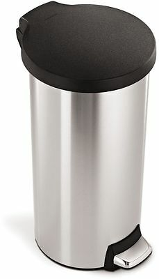 simplehuman 30L Round Pedal Bin - Brushed Stainless Steel -From Argos on ebay