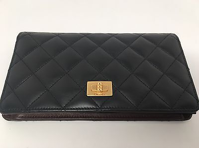 Chanel Quilted Lambskin Bifold Black Wallet
