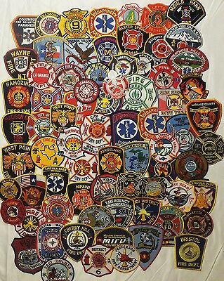 74 mixed USA Fire Departments Firefighter patches NEW