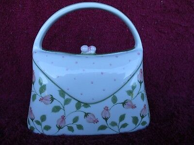 Coin Bank, Andrea By Sadek  Porcelain Purse